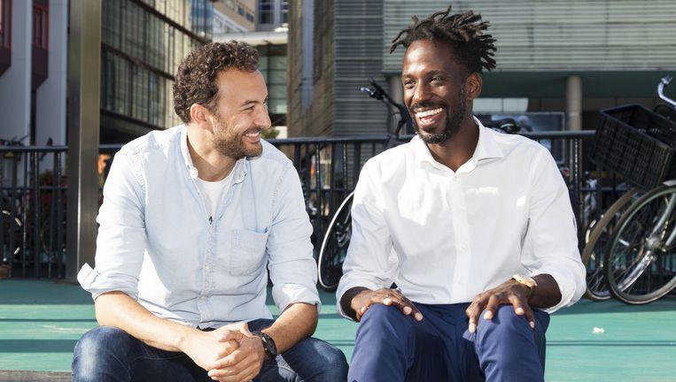 Filmmaker Hesdy Lonwijk en acteur Nasrdin Dchar. Beeld Adriaan van der Ploeg
