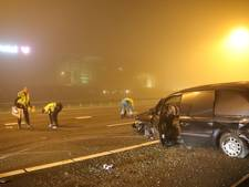 Auto tegen vangrail op A1 in Amersfoort, bestuurder aangehouden