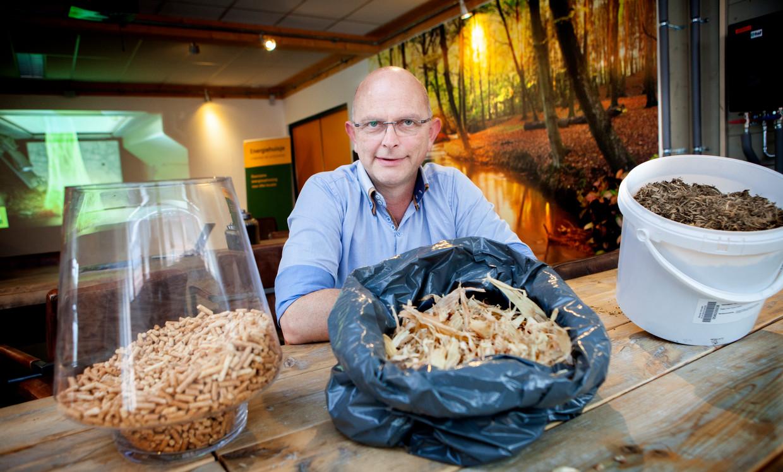 Theo de Groot geeft uitleg over de nieuwe soorten biomassa.