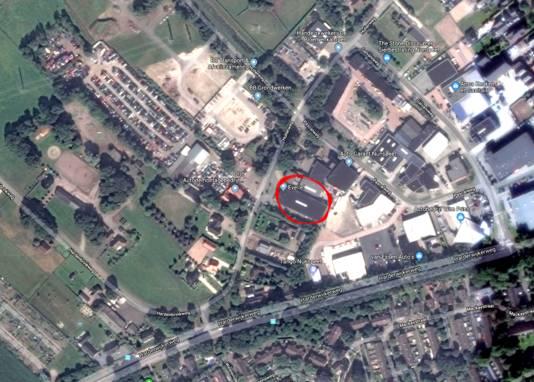 De locatie van het gebouw.