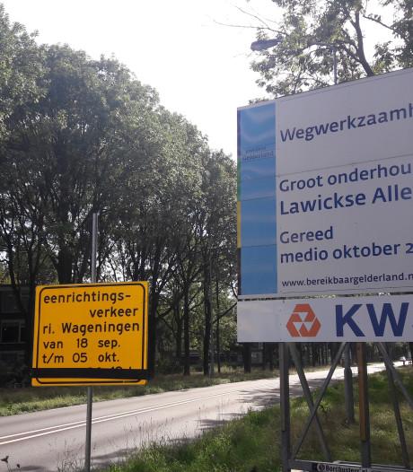 Mazzel (voor wie het wist): N225 naar Rhenen 's pas middags dicht
