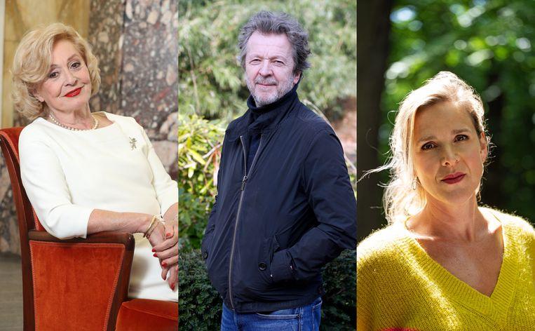 Leah Thys, Lucas Van den Eynde en Tine Embrechts.