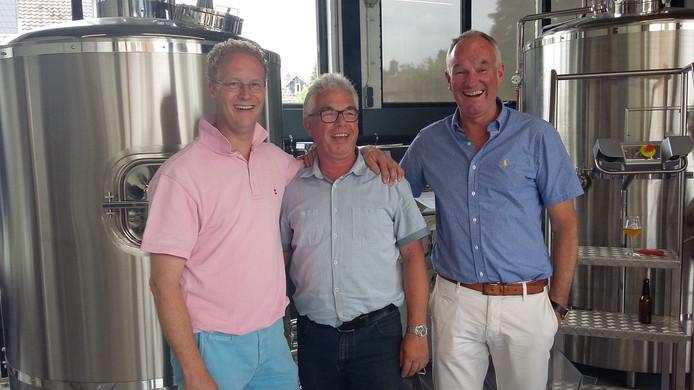 De drie brouwers van links naar rechts: Michiel van der Vaart, Onno Raspe en Bart Looman.