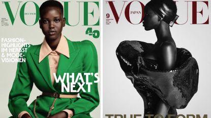 Wie is Adut Akech? Het 19-jarige model dat de cover van 3 'Vogue'-septembernummers siert