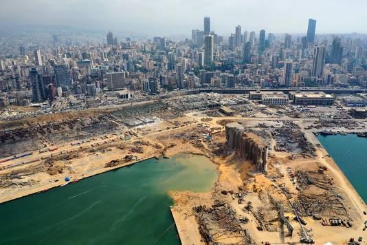 De explosie in Beiroet heeft volgens Franse experts een krater van 43 meter diep veroorzaakt.