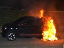 Auto zwaar beschadigd door brand in Nijmegen