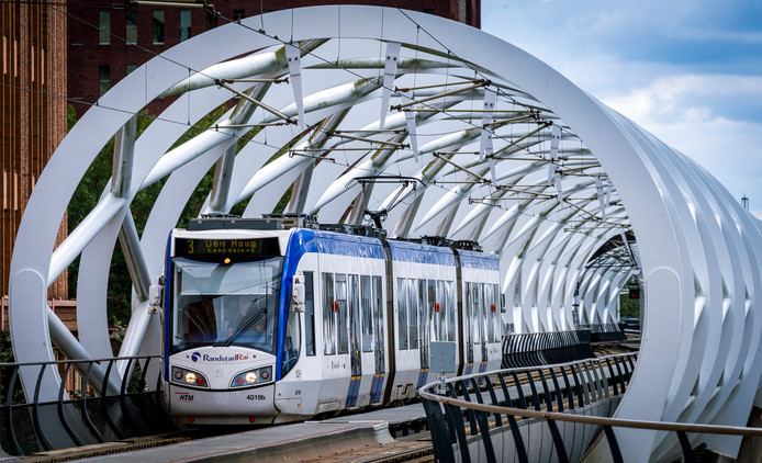 De Netkous, het tramviaduct in de Haagse wijk Bezuidenhout