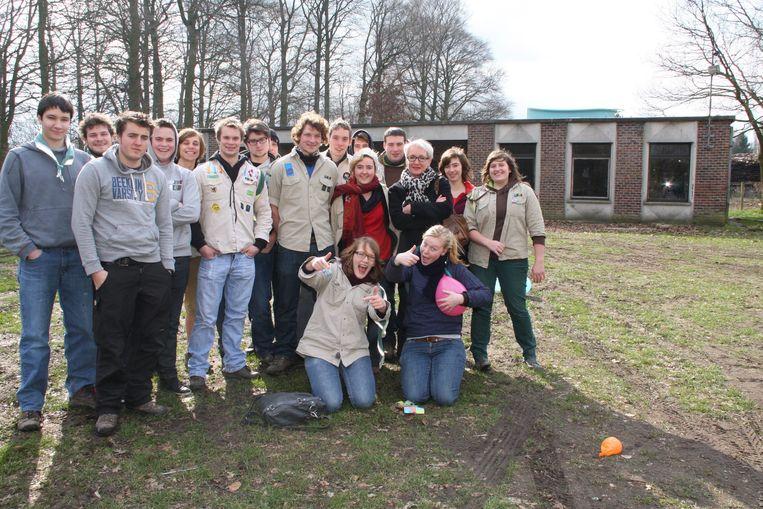 Een archiefbeeld van de Scouts van Aalter.