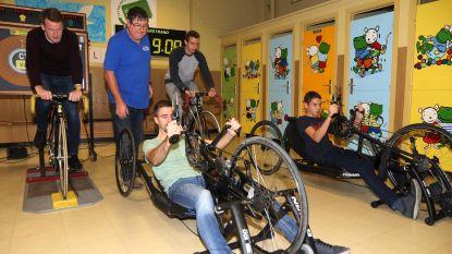 Race met koersfiets en handbike voor het goede doel