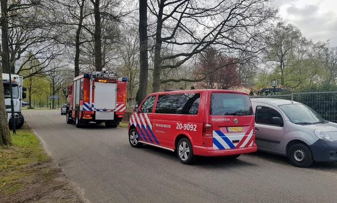 Kapotte gasleiding in Oisterwijk.