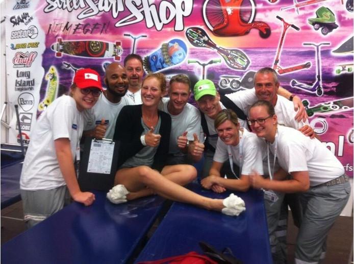 Julie Leenders liep vorig jaar de Vierdaagse uit. Het resultaat: dertig blaren en een gebroken middenvoetsbeentje.