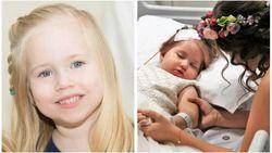 Paige (4) droomde ervan bruidsmeisje te zijn op huwelijk ouders tot ze terminale kanker kreeg. Dat was buiten familie gerekend