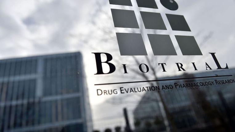 Het Biotrial laboratorium in Rennes, waar de proef plaatsvond Beeld afp