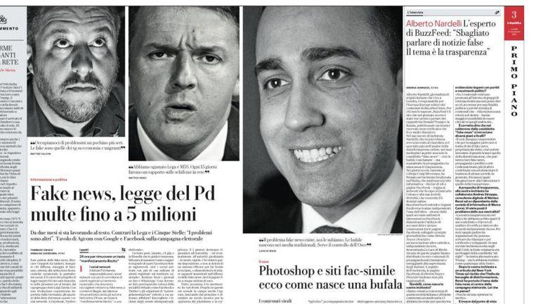 Als we alle Italiaanse politici moeten geloven, zijn alle Italiaanse politici manipulatieve leugenaars. Dat is zo'n beetje de samenvatting van de ruzie momenteel woedt in Rome en die draait om nepnieuws Beeld