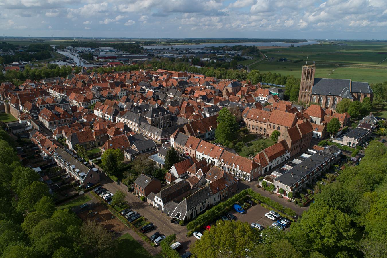 Elburg - Elburg-vesting (Drone-beeld) Editie ZL Foto Freddy Schinkel, IJsselmuiden © FS20200501
