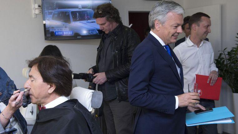 Elio Di Rupo (PS) en Didier Reynders (MR) debatteerden vanavond op de RTBF.