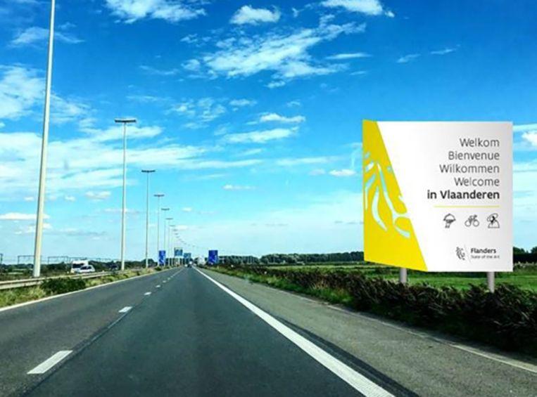 Onwijs Nieuwe borden verwelkomen weggebruikers in Vlaanderen | Binnenland WY-31