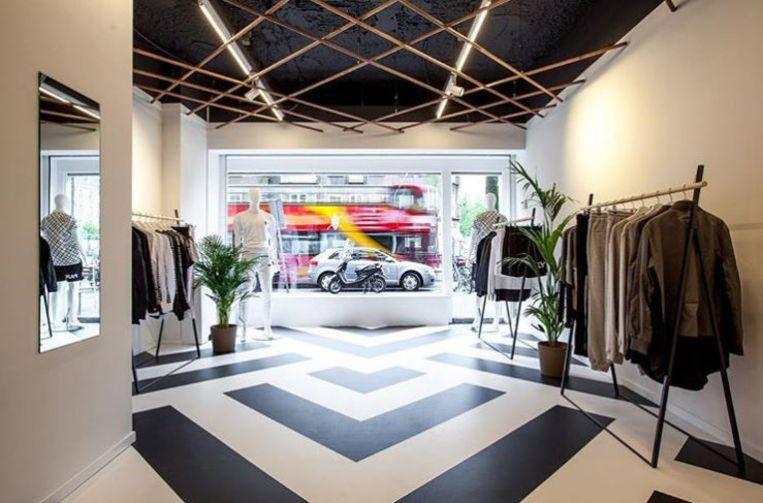 Daily Paper-winkel in Amsterdam. De opening van de nieuwe winkel in New York is tijdelijk uitgesteld vanwege de coronacrisis. Beeld Daily Paper