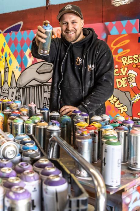 Hoe verliefde Fabian andere graffiti-artiesten inspireert: 'Ik wil één grote liefdesmuur'