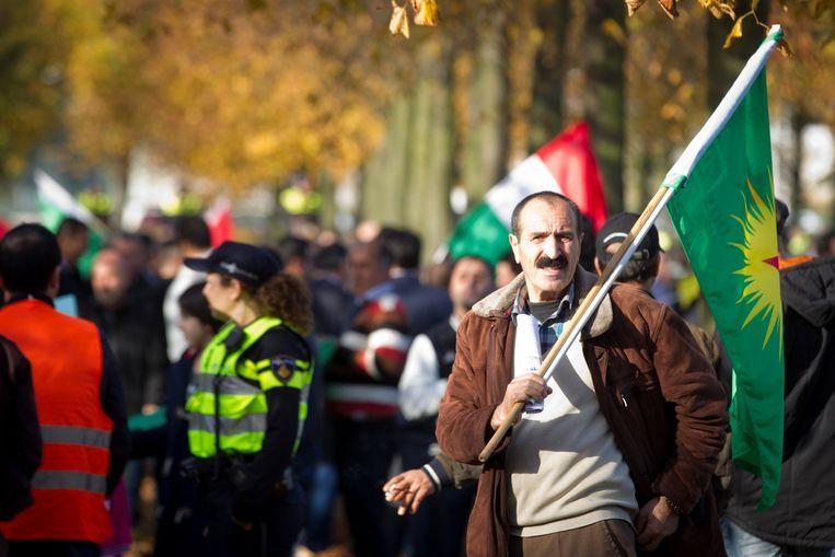 Koerden bij een demonstratie op het Malieveld in 2014. Beeld ANP
