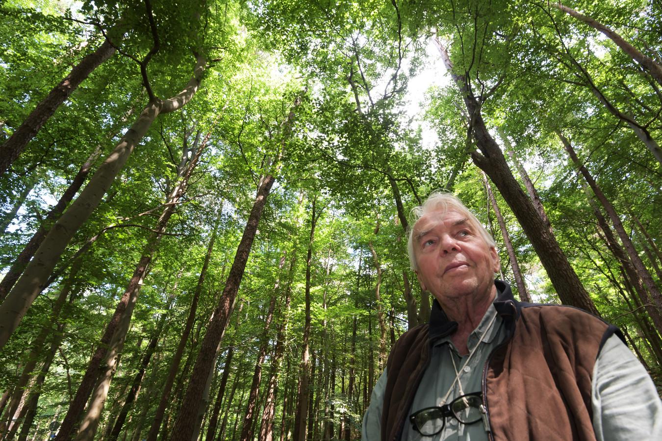Jørn Copijn in het bos op de Heuvelrug.