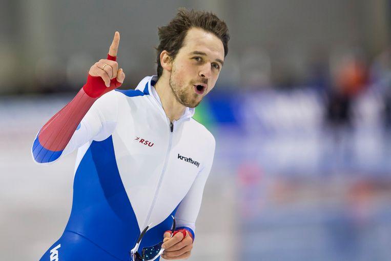 Dennis Joeskov, een grote concurrent van de Nederlandse schaatsters op de 100 meter, is wel geschorst.  Beeld ANP