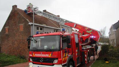 Viertal daken beschadigd in Burst en Vlekkem door stormwind