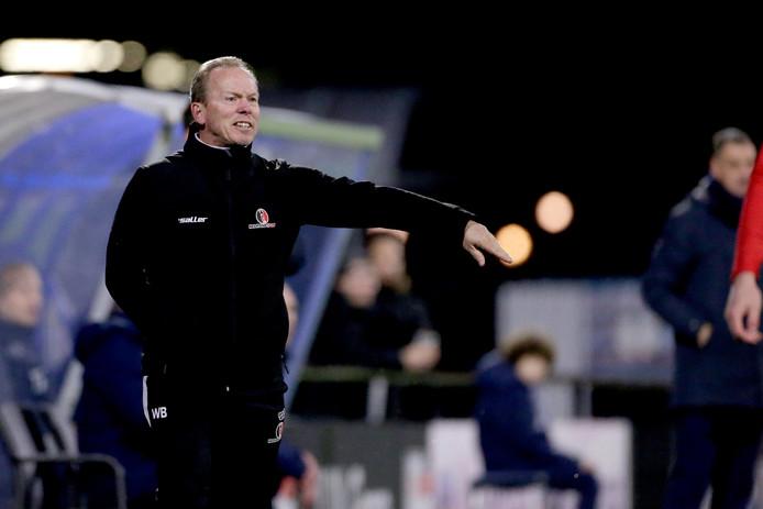 Trainer Wil Boessen was allerminst tevreden over het spel van zijn ploeg tegen FC Eindhoven.