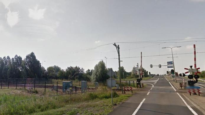De plek waar het nieuwe station wordt gebouwd.