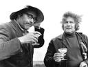 Godfried Bomans (links) en Jan Wolkers