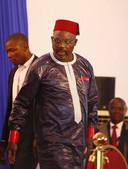 George Weah als president van Liberia.