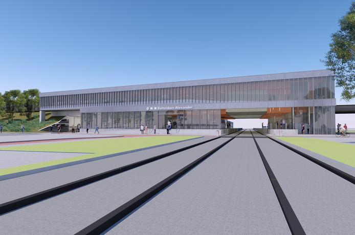 Een impressie van het nieuwe station Rotterdam Alexander.