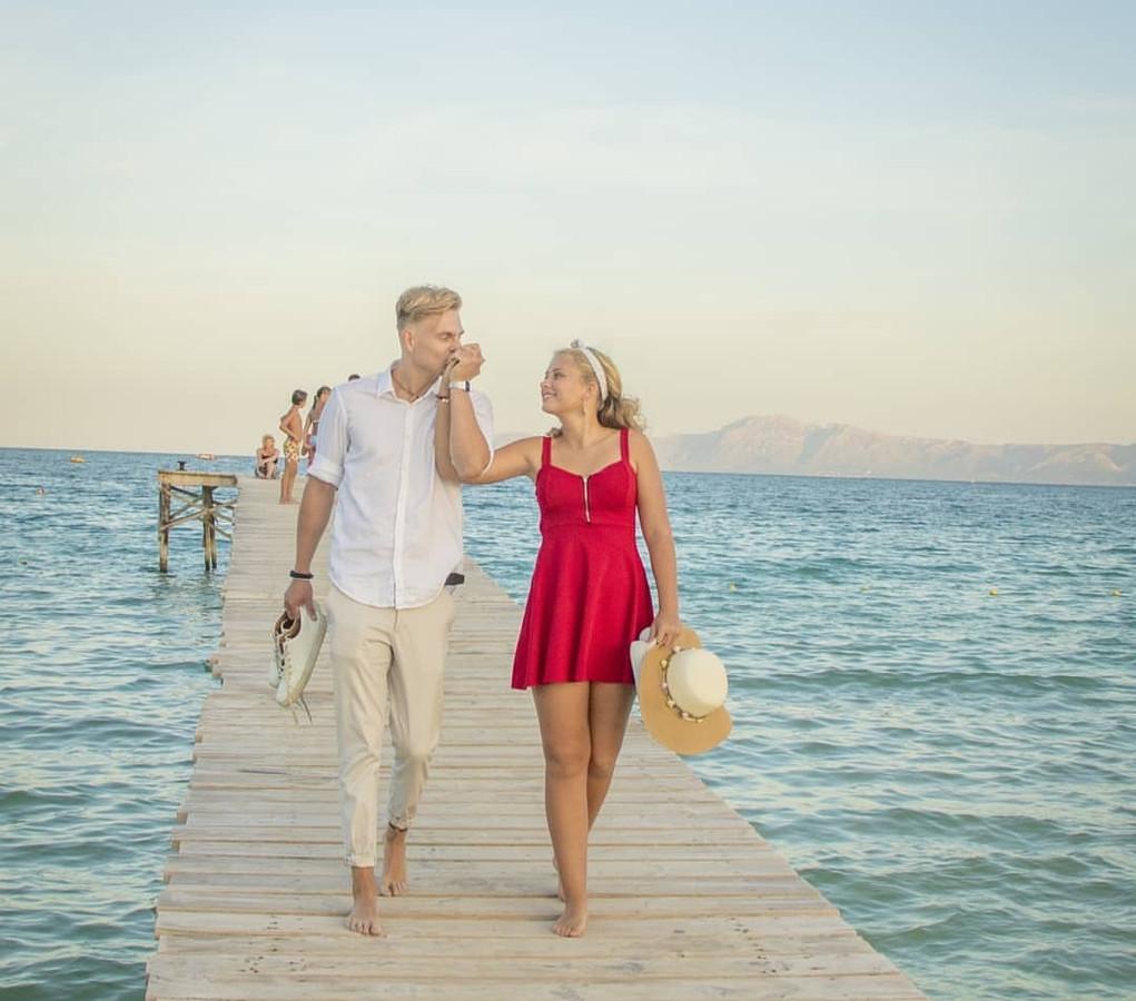 Paula Sengers ontmoette haar vriend Nick Zwaans tijdens een stage op Mallorca.