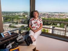 Uitzicht van Linda vanuit de Vermeertoren: Achtervolging goed te zien