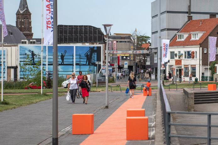 Nieuwe looproute vanaf het nieuwe winkelcentrum Kennedylaan-West naar de Terneuzense binnenstad.