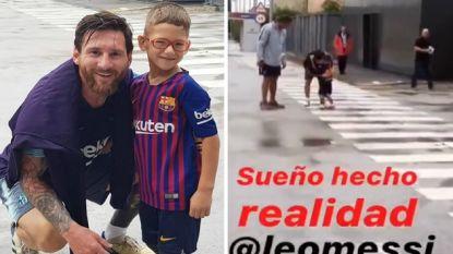 Hartverwarmende beelden: Messi vervult droom van zesjarige die kampt met genetisch probleem