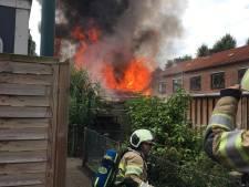 Schuur verwoest na brand in Leersum