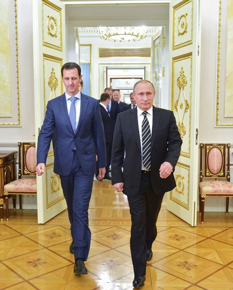 Vladimir Poetin en Bashar All Assad Beeld AP