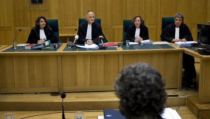 De rechterlijke macht van de rechtbank in Den Bosch vandaag. © ANP