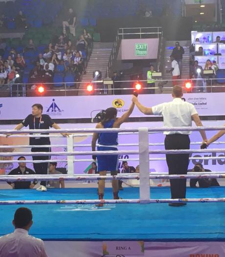 Nijmeegse Jemyma deelt rake klappen uit en hoort bij beste acht op WK boksen