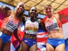 Schippers en Samuel vieren samen zilver en brons op de 200 meter