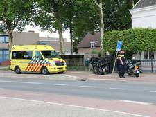 Vrouw gewond na val met motor op Kerkstraat in Haps