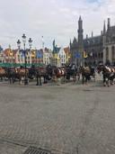 Werkloze koetsiers en amper volk op café: het is stil in Brugge, dezer dagen.