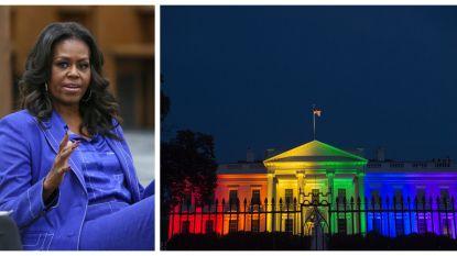 Michelle Obama ontsnapte uit Witte Huis om samen met Amerikanen legalisatie homohuwelijk te vieren
