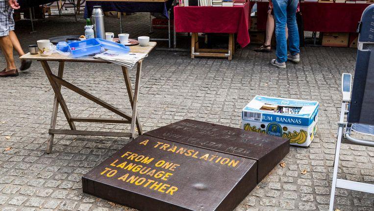 Weiner maakte het werk in opdracht van de UvA, die zichtbaarder wilde zijn in de stad Beeld Tammy van Nerum