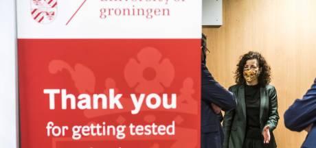 Proef met sneltesten van studenten in Groningen