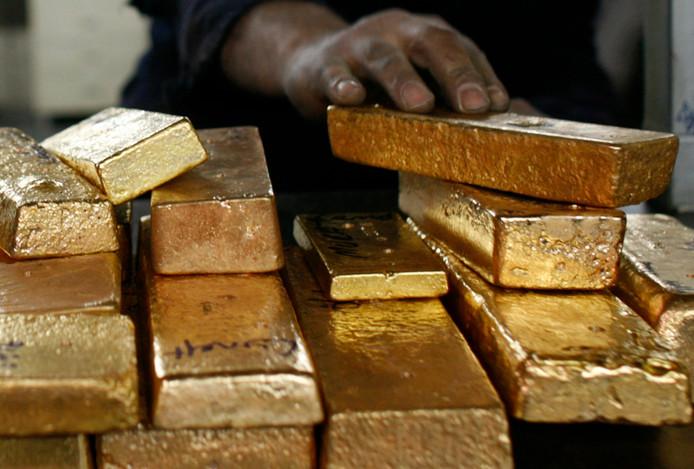 Een partij goudstaven. NB: dit goud is niet hetzelfde als waar in het artikel over wordt gesproken.