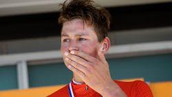 Van der Poel voltooit unieke 'triple' op NK mountainbiken