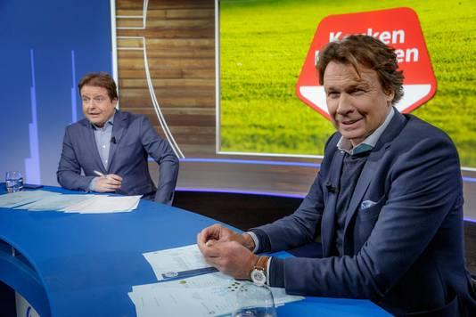 Hans Kraay junior (r) en presentator Pascal Kamperman.