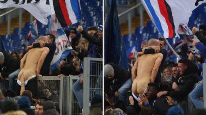 Dolle taferelen: Roma geeft zege tegen negen man uit handen, Lazio slikt gelijkmaker in 99ste minuut waarna spits er bijna zijn onderbroek bij verliest